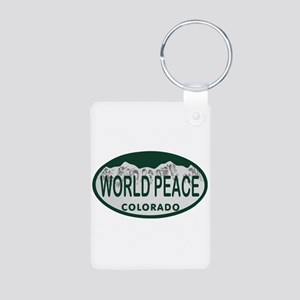 World Peace Colo License Plate Aluminum Photo Keyc