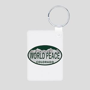 World Peace Colo License Plate Aluminum Photo Keyc