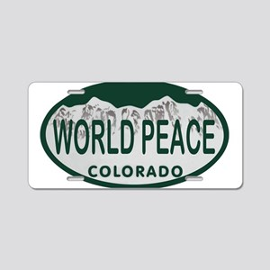 World Peace Colo License Plate Aluminum License Pl