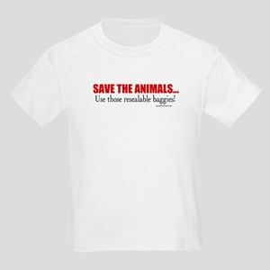 Save the Animals (with baggies) Kids T-Shirt