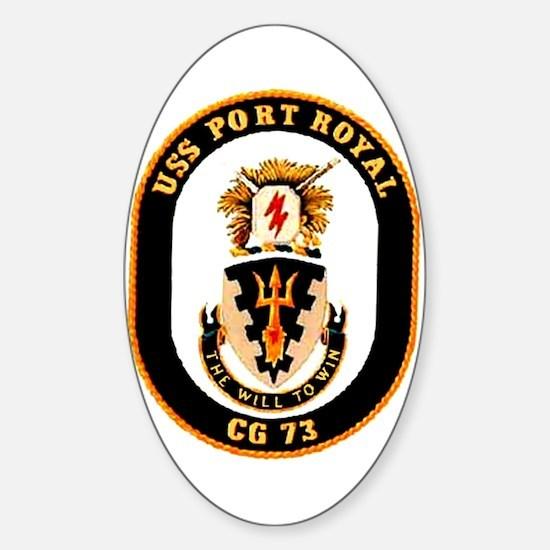 USS Port Royal CG 73 Oval Decal