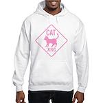 Caution Cat Xing (Pink) Hooded Sweatshirt
