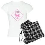 Caution Cat Xing (Pink) Women's Light Pajamas