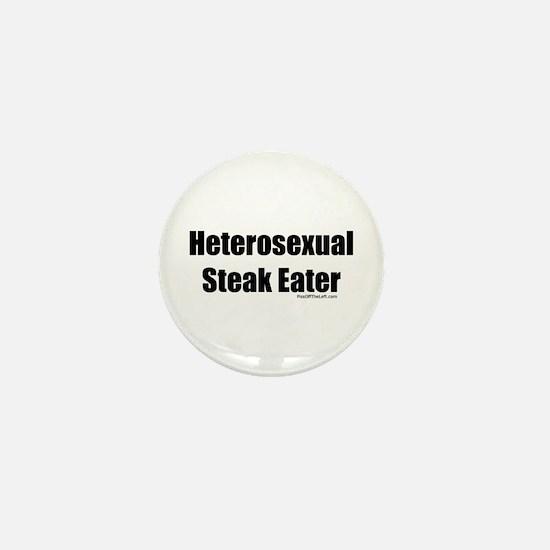 Heterosexual Steak Eater Mini Button