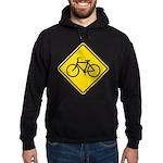 Caution Bike Rider Sign Hoodie (dark)