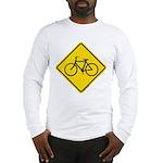 Caution Bike Rider Sign Long Sleeve T-Shirt