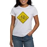 Caution Bike Rider Sign Women's T-Shirt