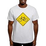 Caution Bike Rider Sign Light T-Shirt