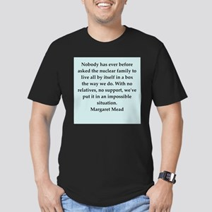 Margaret Mead quotes Men's Fitted T-Shirt (dark)