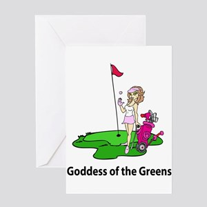 Goddess of Golf Greeting Cards
