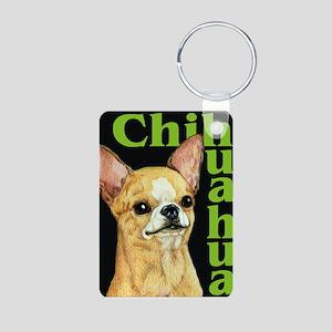 Urban Smooth Chihuahua Aluminum Photo Keychain