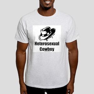 Heterosexual Cowboy Ash Grey T-Shirt
