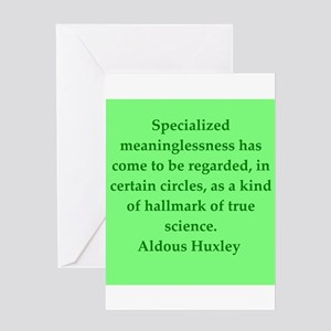 aldous huxley quotes Greeting Card