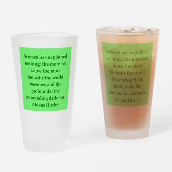 aldous huxley quotes Drinking Glass