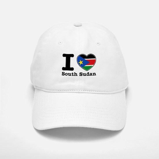 I love South Sudan Baseball Baseball Cap