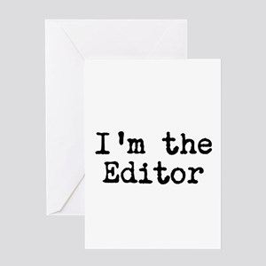 Editor greeting cards cafepress im the editor greeting card m4hsunfo