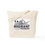 Migrant Foam Worker Tote Bag