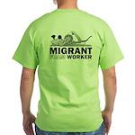 Migrant Foam Worker Green T-Shirt
