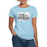 Migrant Foam Worker Women's Pink T-Shirt