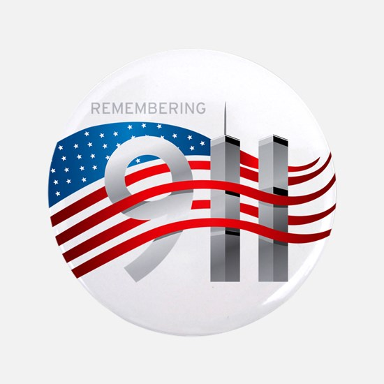 """Remembering 911 3.5"""" Button"""