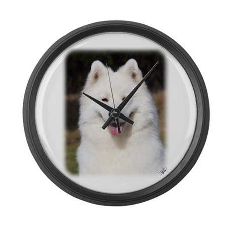 Samoyed 9Y602D-124 Large Wall Clock