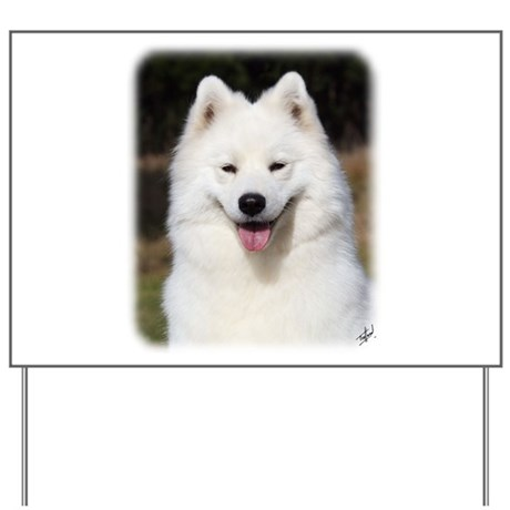 Samoyed 9Y602D-124 Yard Sign