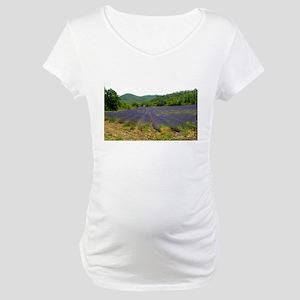 Lavender Fields Maternity T-Shirt