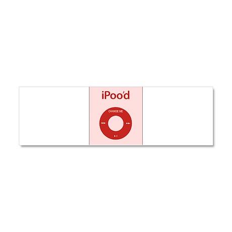 I'Pood Red Car Magnet 10 x 3