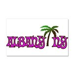 Palms over Albany - Car Magnet 20 x 12