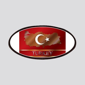 Turkey Map and Turkish Flag Patches