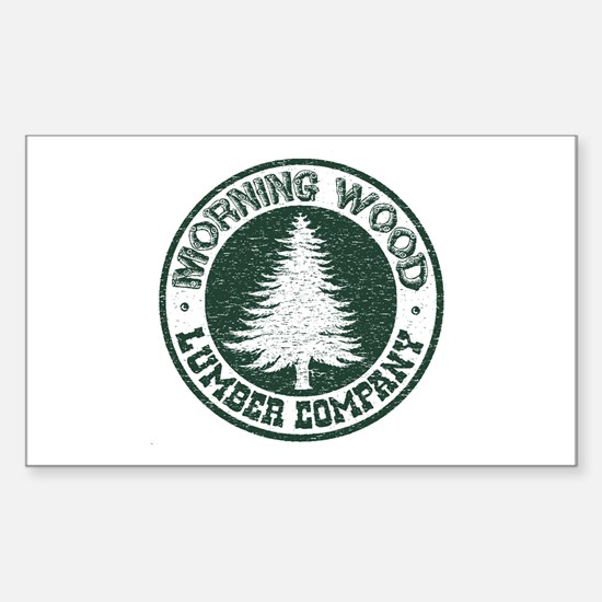 Morning Wood Rectangle Decal