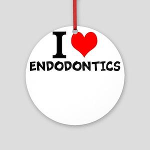 I Love Endodontics Round Ornament