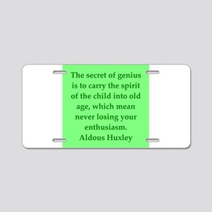 aldous huxley quotes Aluminum License Plate