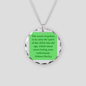 aldous huxley quotes Necklace Circle Charm