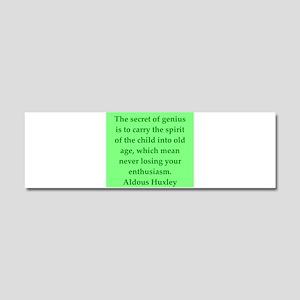 aldous huxley quotes Car Magnet 10 x 3