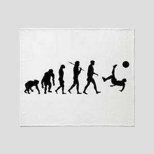 Soccer Evolution Throw Blanket