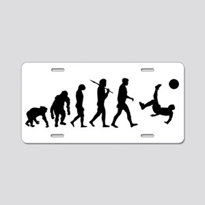 Soccer Evolution Aluminum License Plate