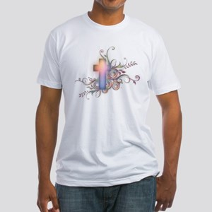 Circles N Swirls Cross Fitted T-Shirt