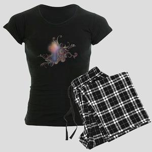 Circles N Swirls Cross Women's Dark Pajamas