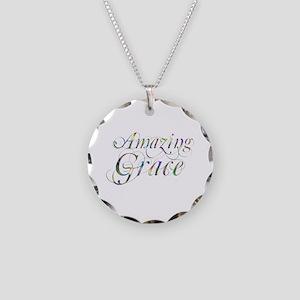 Amazing Grace Necklace Circle Charm
