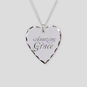 Amazing Grace Necklace Heart Charm
