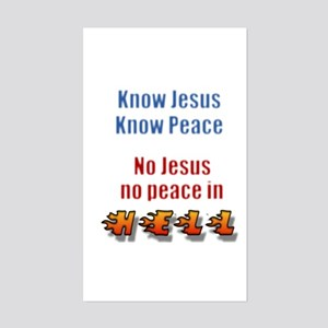 No Jesus/Hell Sticker (Rectangle)