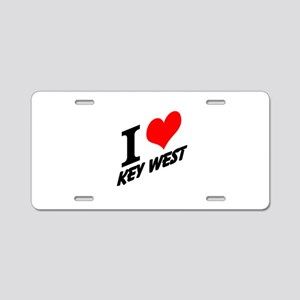 I (heart) Key West Aluminum License Plate