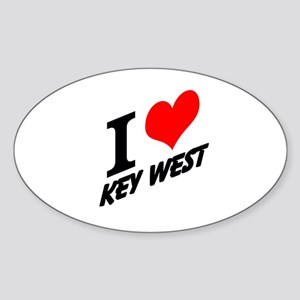 I (heart) Key West Sticker (Oval)