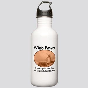 Wind Power Then & Now Stainless Water Bottle 1.0L