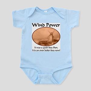 Wind Power Then & Now Infant Bodysuit