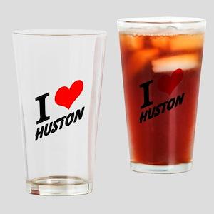 I (heart) Huston Drinking Glass