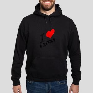 I (heart) Huston Hoodie (dark)