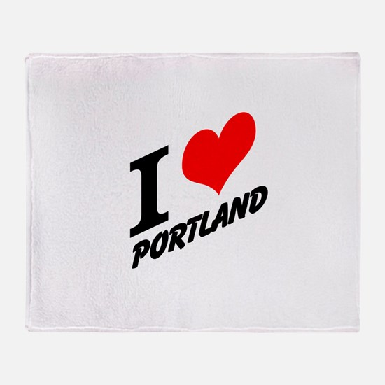 I (heart) Portland Throw Blanket