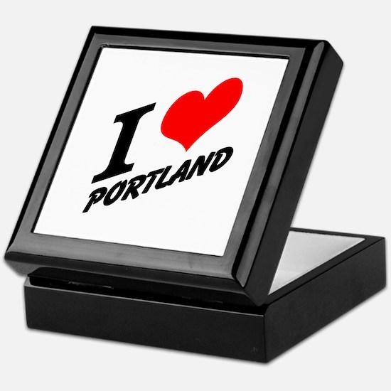I (heart) Portland Keepsake Box